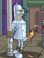 Bender from Futurama plays dirty gay BDSM games